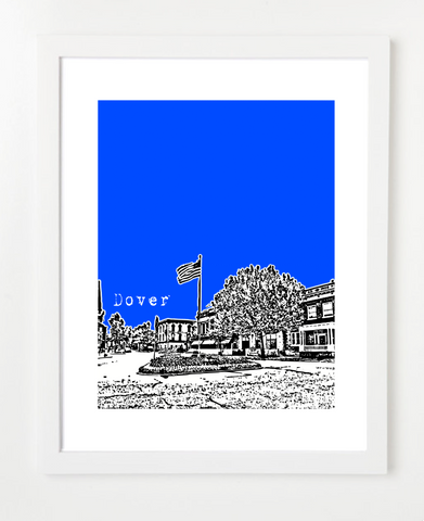 Dover Delaware USA Skyline Art Print and Poster | By BirdAve Posters
