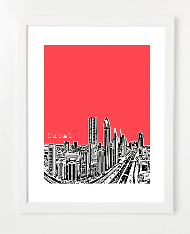 Dubai United Arab Emirates Middle East Posters and Skyline Art Prints | By BirdAve
