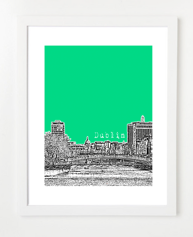 Dublin Ireland Europe Posters and Skyline Art Prints | By BirdAve