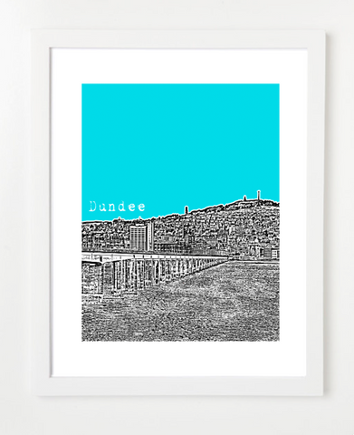 Dundee Scotland Europe Posters and Skyline Art Prints | By BirdAve