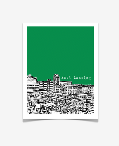 East Lansing Michigan - Michigan State University Poster