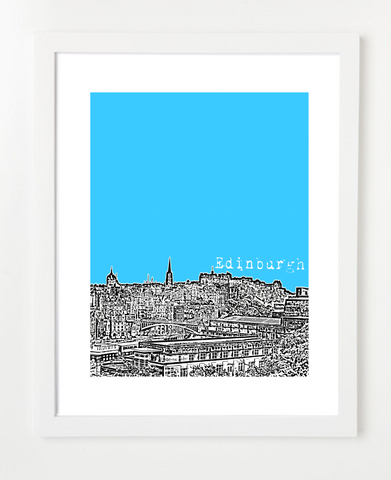 Edinburgh Scotland Europe Posters and Skyline Art Prints | By BirdAve