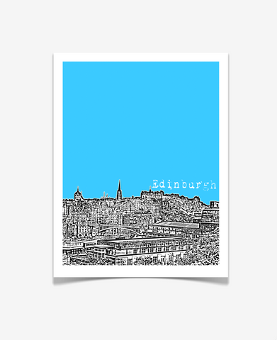 Edinburgh Scotland Europe Poster VERSION 1