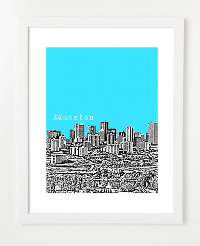 Edmonton alberta canada posters and skyline art prints by birdave posters