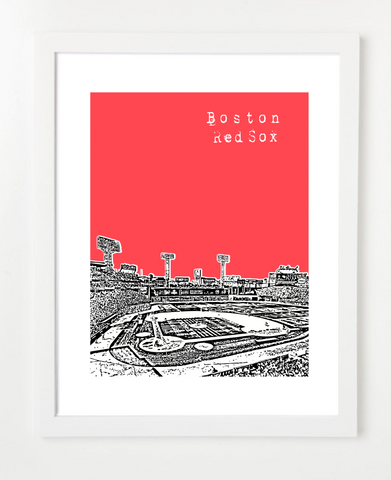 Boston Red Sox Skyline Art Print and Poster Fenway| By BirdAve Posters