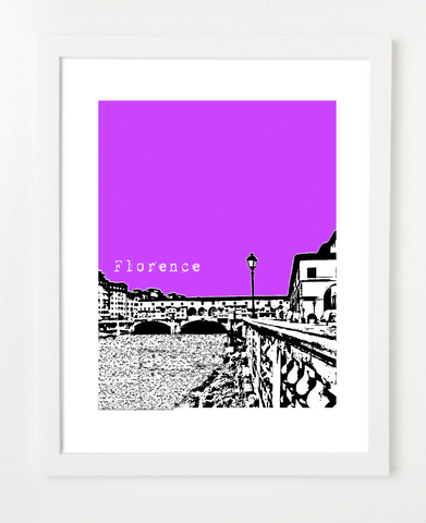 Florence Italy Europe Posters and Skyline Art Prints | By BirdAve
