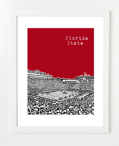 Florida State Seminoles Bobby Bowden Field Skyline Art Print and Poster | By BirdAve Posters