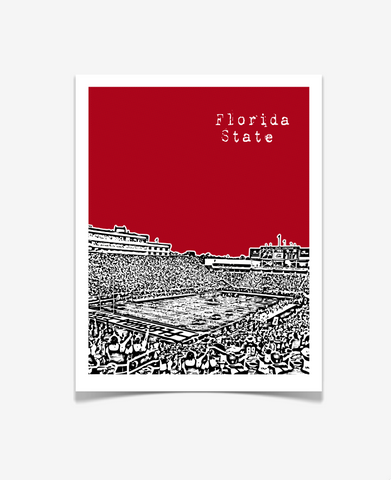 Florida State Seminoles Poster - Bobby Bowden Field - VERSION 1