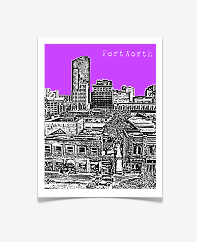 Fort Worth Texas Poster