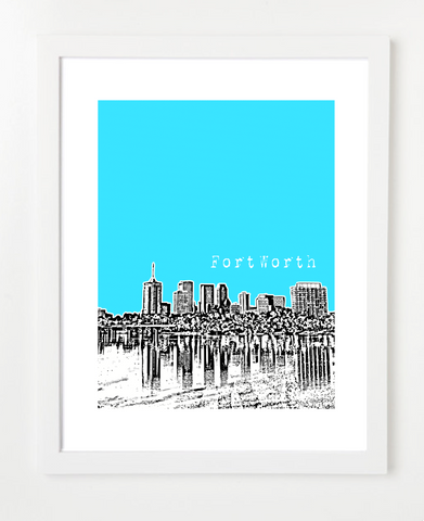 Tulsa Oklahoma Downtown Skyline Art Print and Poster | By BirdAve Posters