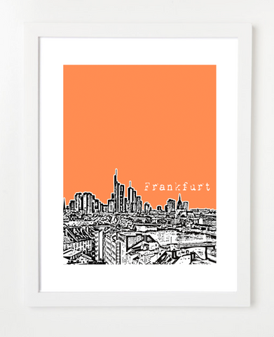 Frankfurt Germany Europe Posters and Skyline Art Prints | By BirdAve