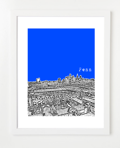 UPenn Pennsylvanias and Skyline Art Prints | By BirdAve