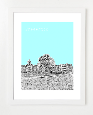 Frederick Maryland Skyline Art Print and Poster | By BirdAve Posters