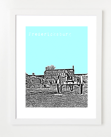 Fredericksburg Virginia Skyline Art Print and Poster | By BirdAve Posters