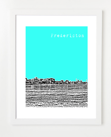 Fredericton New Brunswick Canada Posters and Skyline Art Prints | By BirdAve Posters