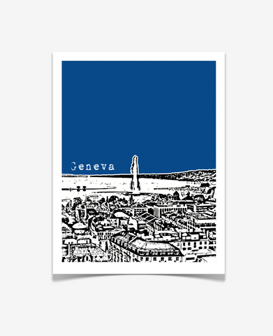 Geneva Switzerland Europe Poster