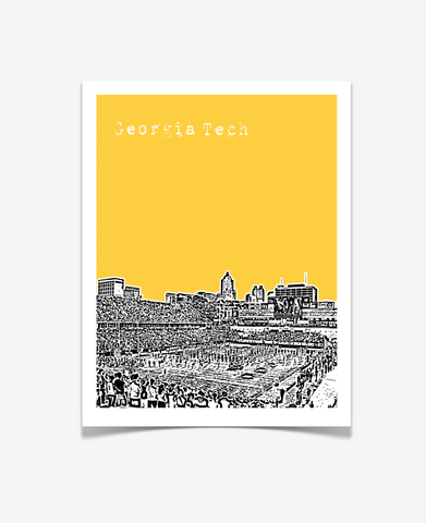 Georgia Tech Yellow Jackets Football Poster