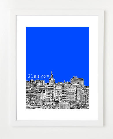 Glasgow Scotland Europe Posters and Skyline Art Prints | By BirdAve