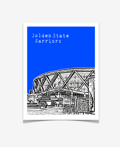 Golden State Warriors Oracle Arena Poster