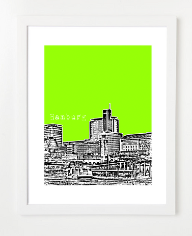 Hamburg Germany Europe Posters and Skyline Art Prints | By BirdAve