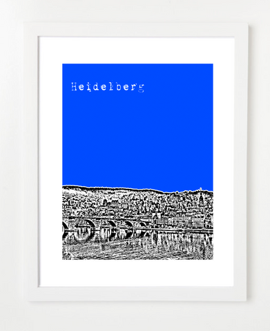 Heidelberg Germany Europe Posters and Skyline Art Prints | By BirdAve