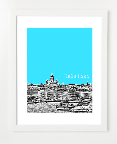 Helsinki Finland Europe Posters and Skyline Art Prints | By BirdAve