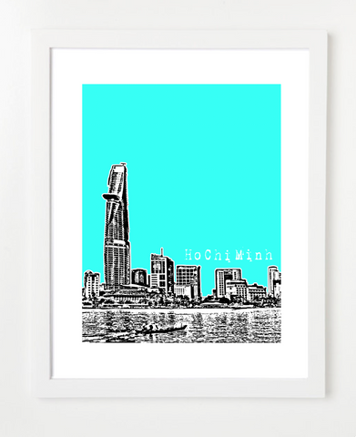 Ho Chi Minh City Vietnam Asia Posters and Skyline Art Prints | By BirdAve