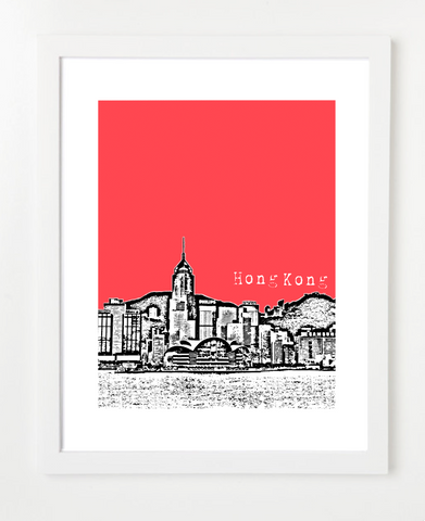 Hong Kong China Asia Posters and Skyline Art Prints | By BirdAve