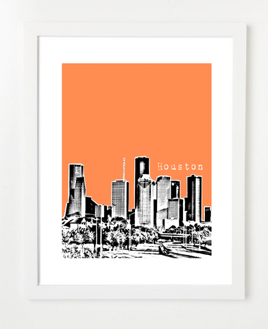 Houston Texas Skyline Art Print and Poster | By BirdAve Posters