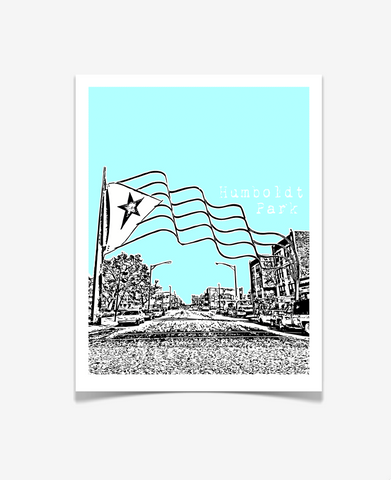 Chicago Illinois - Humboldt Park Poster