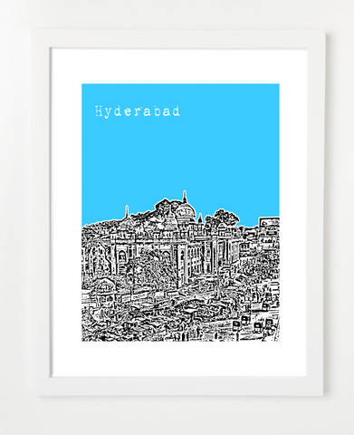 Hyderabad India Asia Posters and Skyline Art Prints | By BirdAve