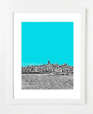 Istanbul Turkey Europe Posters and Skyline Art Prints | By BirdAve