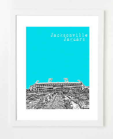 Jacksonville Jaguars EverBank Field Skyline Art Print and Poster | By BirdAve Posters