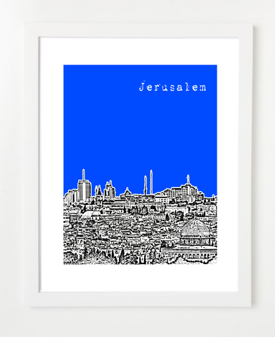 Jerusalem Israel Middle East Posters and Skyline Art Prints | By BirdAve