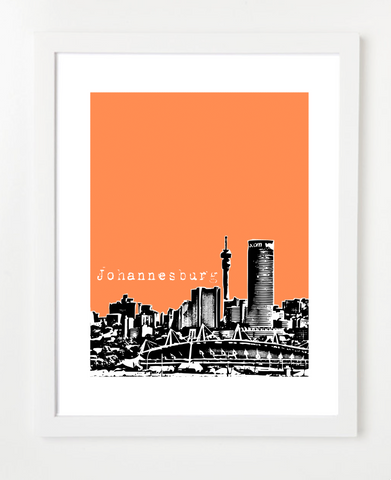 Johannesburg South Africa Posters and Skyline Art Prints | By BirdAve