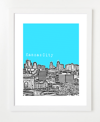 Kansas City Missouri Skyline Art Print and Poster | By BirdAve Posters
