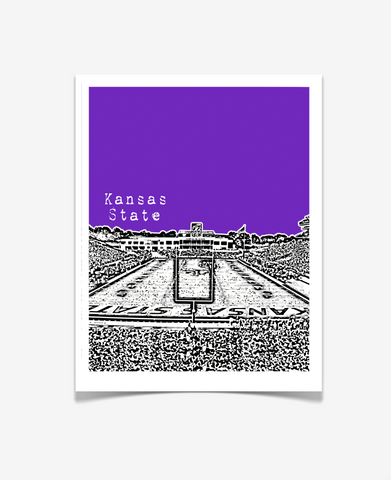 Kansas State University Wildcats Football Poster