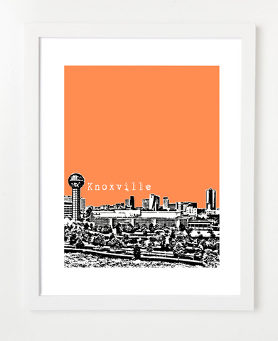 Knoxville Tennessee Skyline Art Print and Poster | By BirdAve Posters