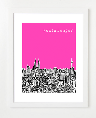 Kuala Lumpur Malaysia Asia Posters and Skyline Art Prints | By BirdAve