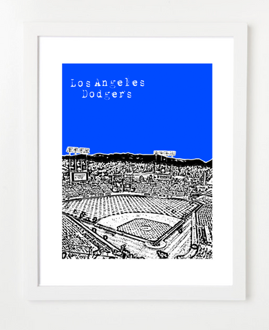 Los Angeles Dodgers Skyline Art Print and Poster | By BirdAve Posters