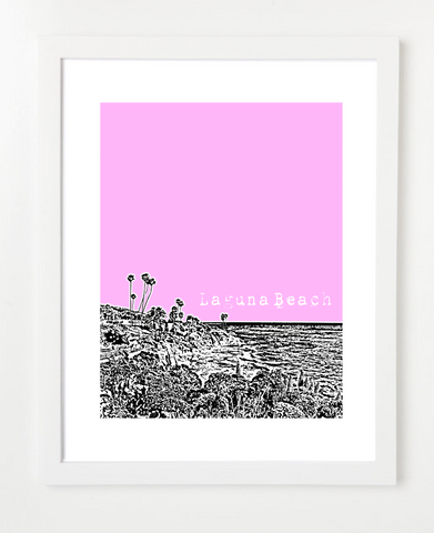 Laguna Beach California USA Skyline Art Print and Poster | By BirdAve Posters