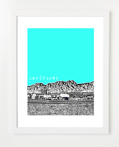Las Cruces New Mexico NMSU Skyline Art Print and Poster | By BirdAve Posters