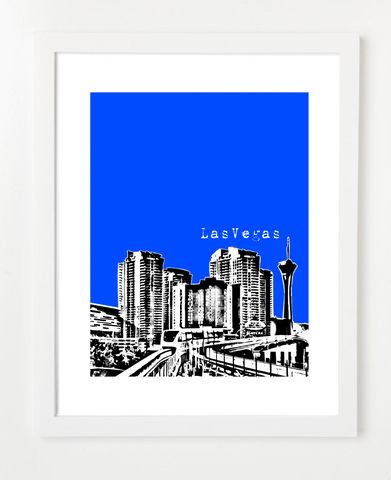 Las Vegas Nevada VERSION 1 Skyline Art Print and Poster | By BirdAve Posters