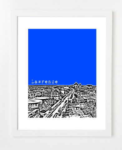 Lawrence Kansas University of Kansas Skyline Art Print and Poster | By BirdAve Posters