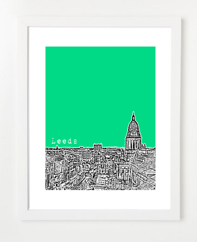 Leeds England Europe Posters and Skyline Art Prints | By BirdAve