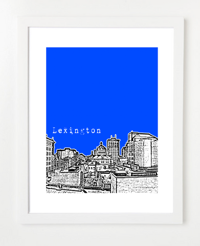 Lexington Kentucky Skyline Art Print and Poster | By BirdAve Posters