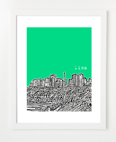 Lima Peru Latin America Posters and Skyline Art Prints | By BirdAve