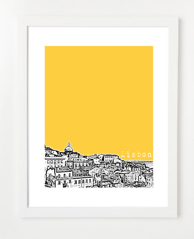 Lisbon Portugal Europe Posters and Skyline Art Prints | By BirdAve