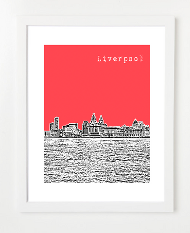 Liverpool England Europe Posters and Skyline Art Prints | By BirdAve
