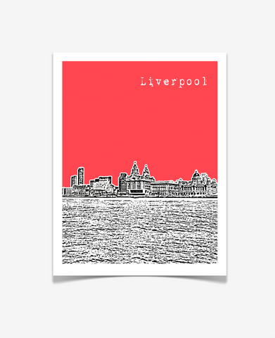 Liverpool England Europe Poster